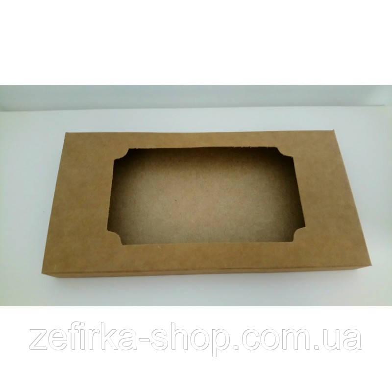 Коробка для плитки шоколада крафт