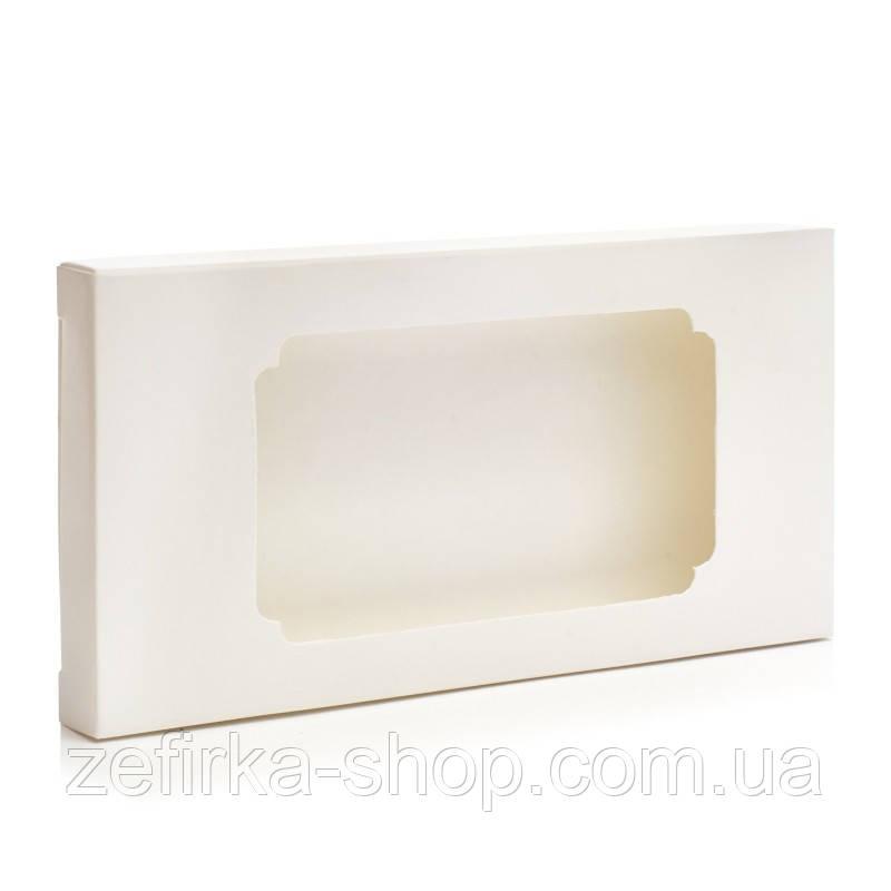 Коробка для плитки шоколада белая