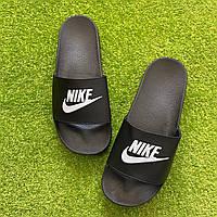 Мужские Шлепанцы/ Сланцы/ Тапки Nike Black -  Шлепки мужские Найк Черные