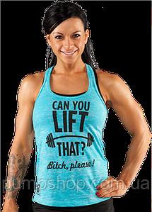 Спортивная женская майка Bodybuilding Clothing Women's Can You Lift That Tank голубая L