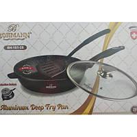 Сковорода з кришкою Bohmann BH 101-28 28 см з лопаткою