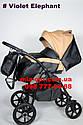 Детская коляска 2 в 1 Classik (Классик) Victoria Gold эко кожа черная-беж, фото 2