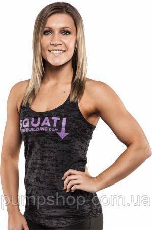 Спортивна жіноча майка Bodybuilding Clothing women's Squat Down Tank чорна L