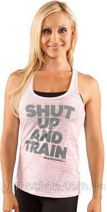 Спортивна жіноча майка Bodybuilding Clothing women's Shut Up & Train Tank рожева L, фото 2