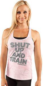 Спортивная женская майка Bodybuilding Clothing Women's Shut Up & Train Tank розовая L