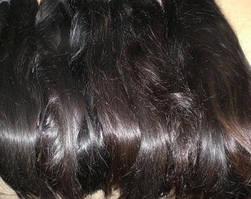 Натуральные европейские неокрашенные волосы на трессе длиной 92 см