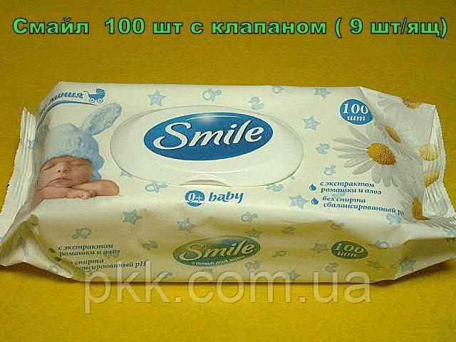 Влажные салфетки Smile Baby ультрамягкие для детей с первых дней жизни с экстрактом ромашки и алоэ с клапаном 72 шт.