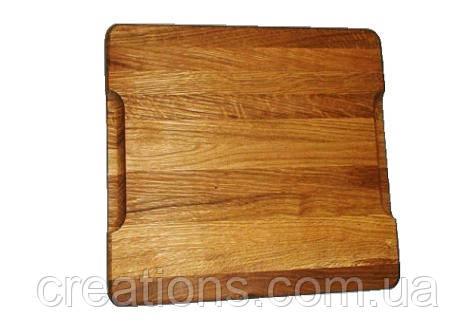 Доска разделочная 40х25х4 см. деревянная толстая (ясень, дуб) РД-23