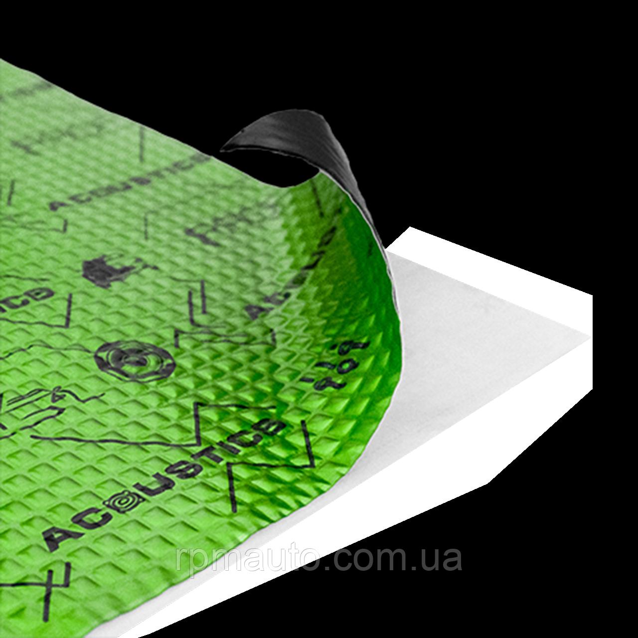 Шумоізоляція Авто ACOUSTICS PROFY A2 50x37 см Обесшумка Віброізоляція Шумка Шумоізоляція Виброшумоизоляция
