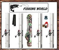 4 Набора для ловли карпа . Удилище Bratfishing Carp 3,3м с котушкой и леской. (№101)