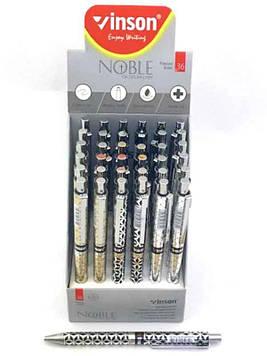 Ручка шариковая масляная синяя Vinson Noble 7031 (36шт)