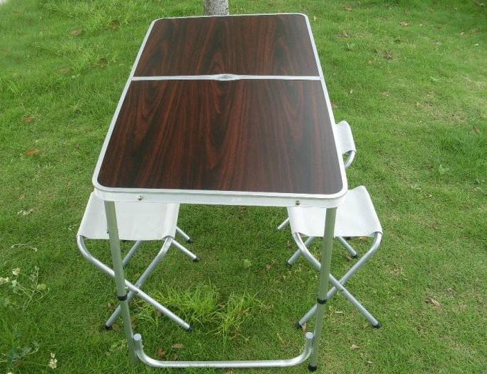 Стол алюминиевый раскладной для пикника + 4 стула, чемодан FT
