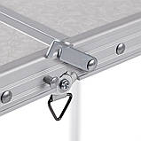 Стол алюминиевый раскладной для пикника + 4 стула, чемодан FT, фото 3