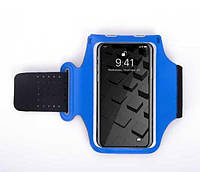 Спортивный чехол на руку для смартфона Panther синий, фото 1