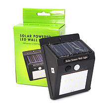 Настенный светильник на солнечной батарее Solar Powered LED Wall Light