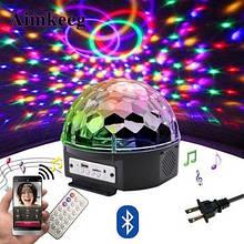 Диско шар (MP3, Bluetooth, USB) - светомузыка.