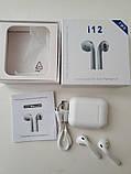 Беспроводные Наушники i12(Bluetooth+сенсорные кнопки), фото 4