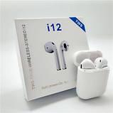Беспроводные Наушники i12(Bluetooth+сенсорные кнопки), фото 5