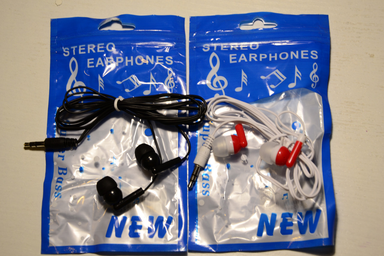 Універсальний провідний навушник в навушниках з ухами Нейлон Плетений стерео Маленький дешевий навушник Super Bas