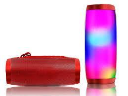 Портативна bluetooth колонка вологостійка TG-157 Pulse з різнокольоровою підсвіткою