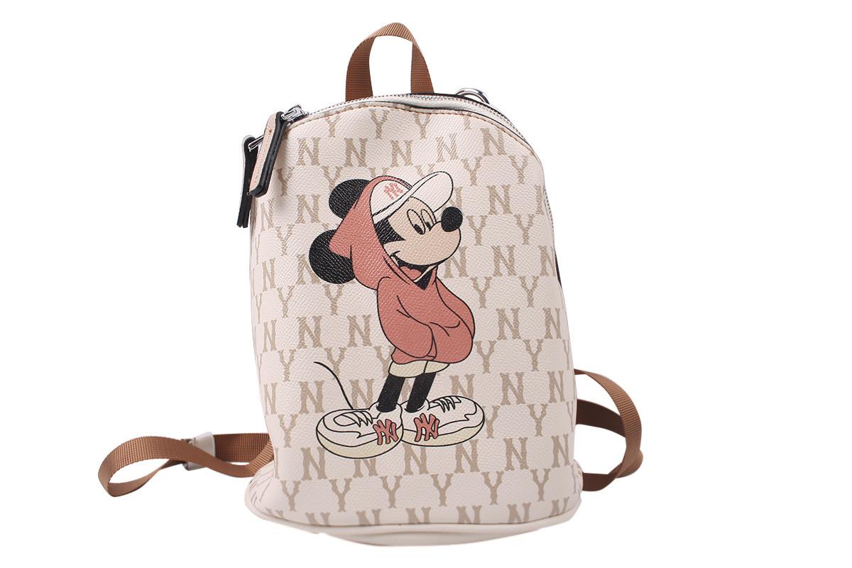 Сумка-рюкзак женская молодежная эко-кожа, цвет бежевый
