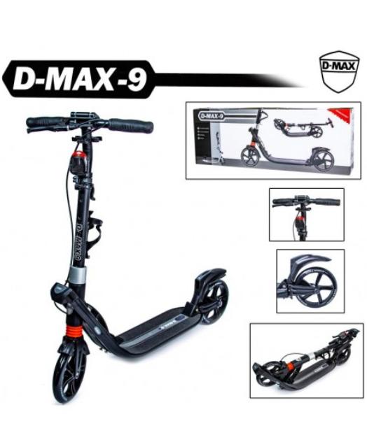Двухколесный самокат Scale Sports. D-Max-9. Black. Ручной тормоз!