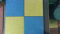 Резиновое спортивное (напольное) покрытие для детских площадок, спортзала 12мм OSPORT (П12)