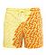 Шорты хамелеон для плавания, пляжные мужские спортивные меняющие цвет жёлтые с рисунком размер M код 26-0002, фото 4