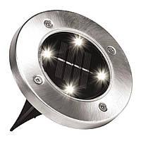 """🔝 Уличный светильник на солнечной батарее """"Bell Howell Disk lights"""" (4 led)   садовый фонарь  🎁%🚚"""