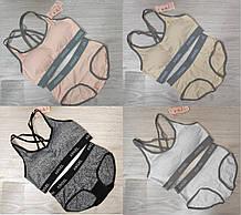 Набір жіночої білизни топ+труси арт 8801,кольору розмір 44/46