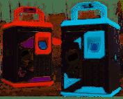 Детская электронная копилка сейф с кодовым замком и отпечатком пальца -ROBOT BODYGUARD