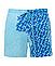 Шорты хамелеон для плавания, пляжные мужские спортивные шорты меняющие цвет Синий-Голубой с рисунком Код 26-0151, фото 5