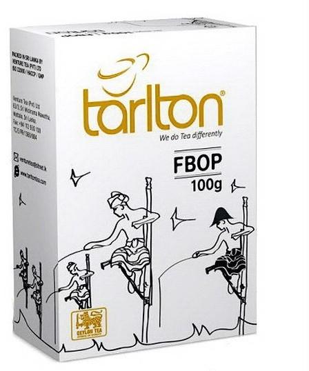 Чай Тарлтон чорний FBOP цейлонський чорний середньолистовий 100 грам