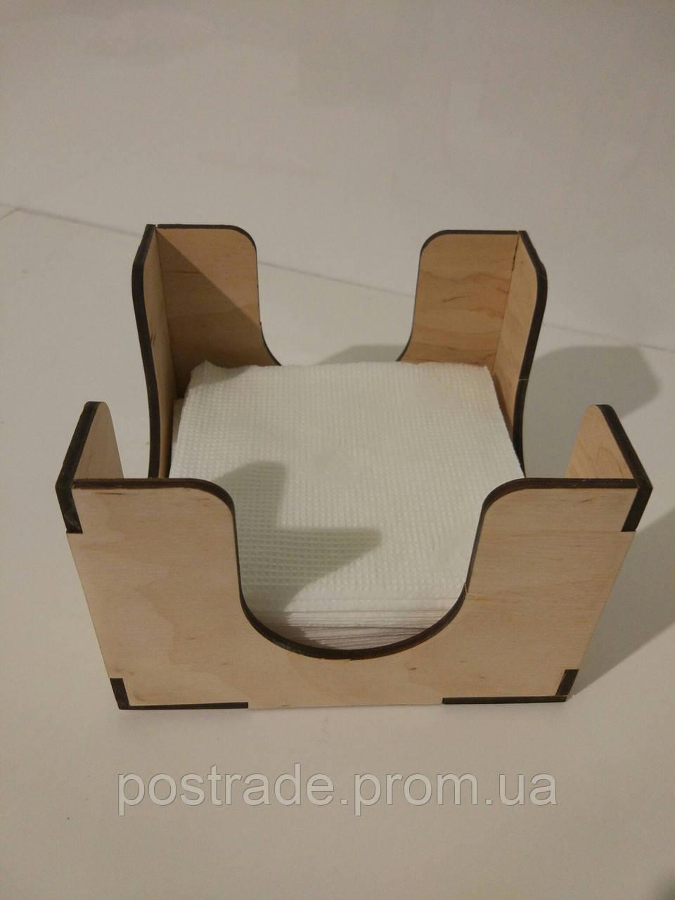 Салфетница деревянная для HoReCa и фаст-фуда