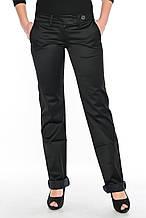 Джинсы женские стрейчевые Омат 9651 с косыми карманами чёрные
