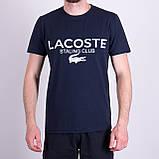 Чоловіча футболка LACOSTE, кольору бордо, фото 4