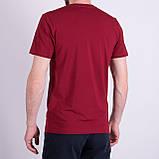 Чоловіча футболка LACOSTE, кольору бордо, фото 2