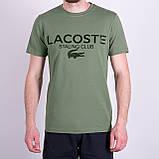 Чоловіча футболка LACOSTE, кольору бордо, фото 3