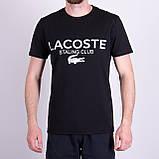Чоловіча футболка LACOSTE, кольору бордо, фото 7
