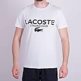 Чоловіча футболка LACOSTE, кольору бордо, фото 5