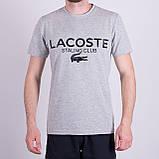 Чоловіча футболка LACOSTE, кольору бордо, фото 6