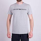 Чоловіча футболка Emporio Armani, білого кольору, фото 4