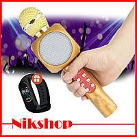Беспроводной микрофон Wster WS-1816 / караоке микрофон + фитнес браслет в подарок!