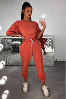 Костюм жіночий літній прогулянковий з вільними штанами і кофтою (Норма), фото 2