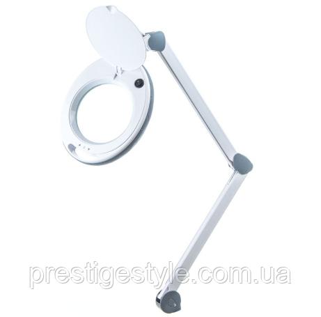 Лампа-лупа LS-6014 LED 5D c регулировкой яркости, настольная