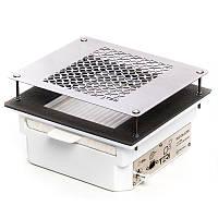 Вытяжка врезная для маникюрного стола Тери Turbo + ХЕПА фильтр (нержавеющая сетка)