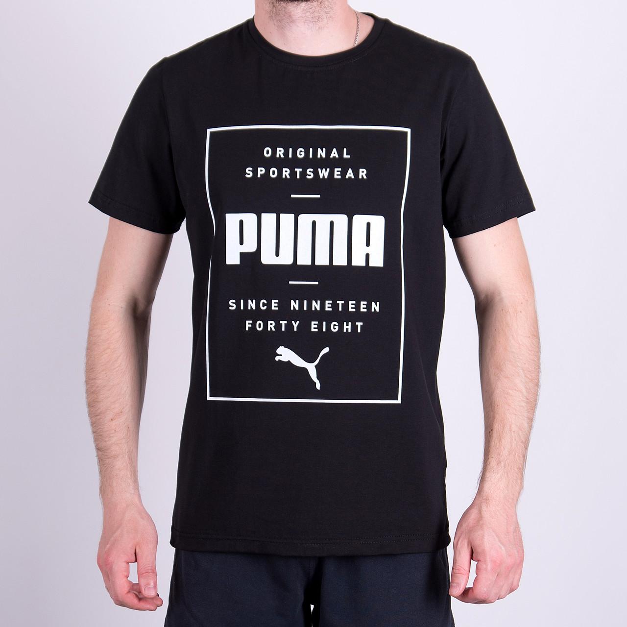 Чоловіча футболка Puma,  чорного кольору