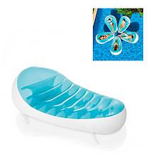 Матрас-шезлонг для плаванья надувной Intex 56869 Лепесток голубой, 193-124 см.