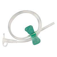 """Катетер для инъекций тип """"бабочка"""" 21G (0,8*19 мм) IGAR Зеленый"""