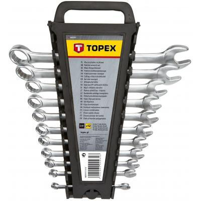 Набор инструментов Topex ключей комбинированных 6-22 мм, 12 шт. (35D757)